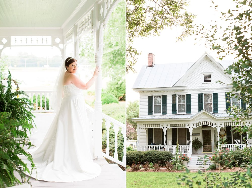 classic southern bridal session at a bed and breakfast