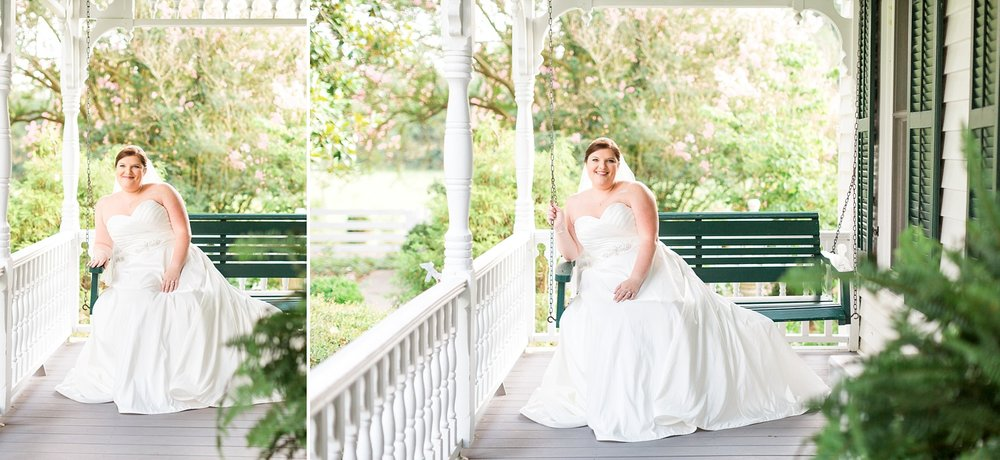 southern front porch bridal session by rachael bowman photography