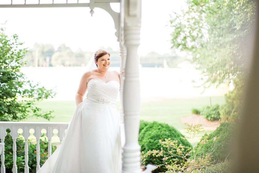 Southern bridal session at the Springfield Bed and Breakfast in Hertford, NC