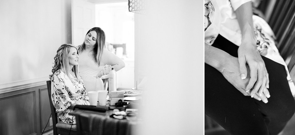 bride gets ready for her wedding day