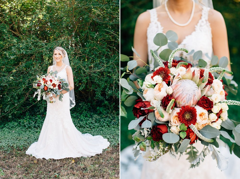 protea wedding bouquet by rachael bowman photography