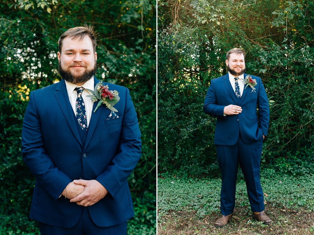 groom portrait on his wedding day