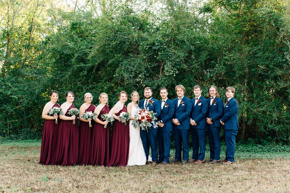burgundy and navy wedding color theme