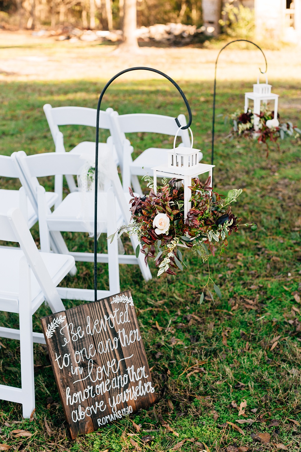 fall wedding ceremony aisle decorations