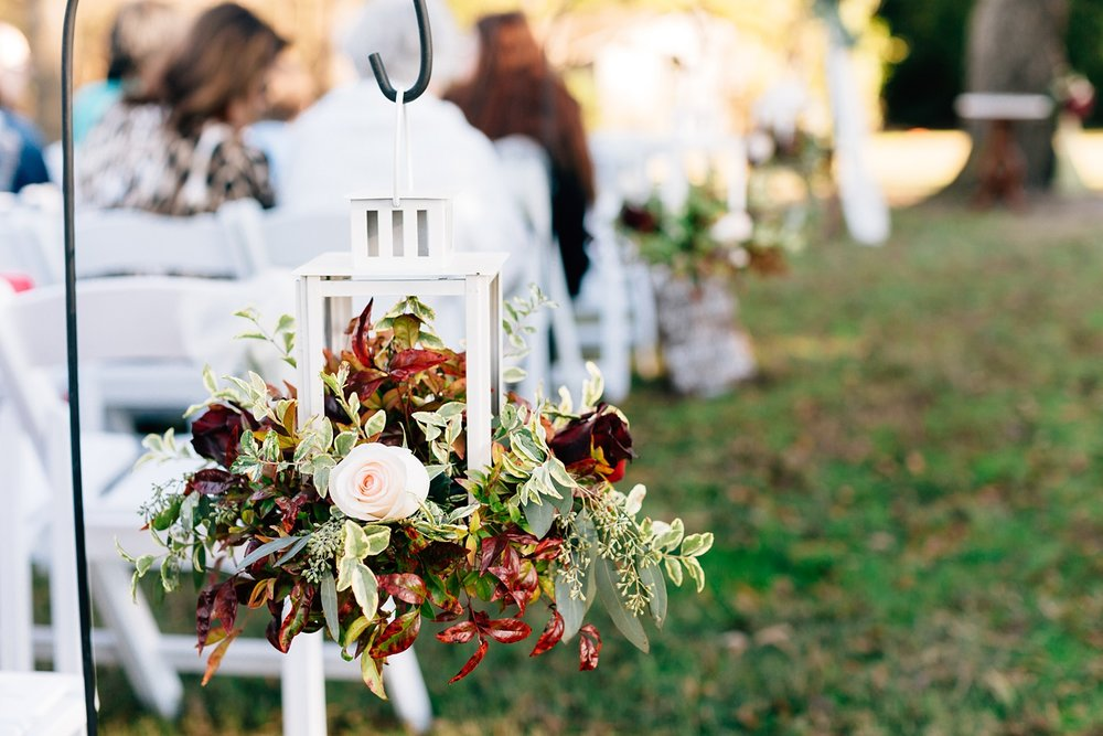 fall lantern wedding decor