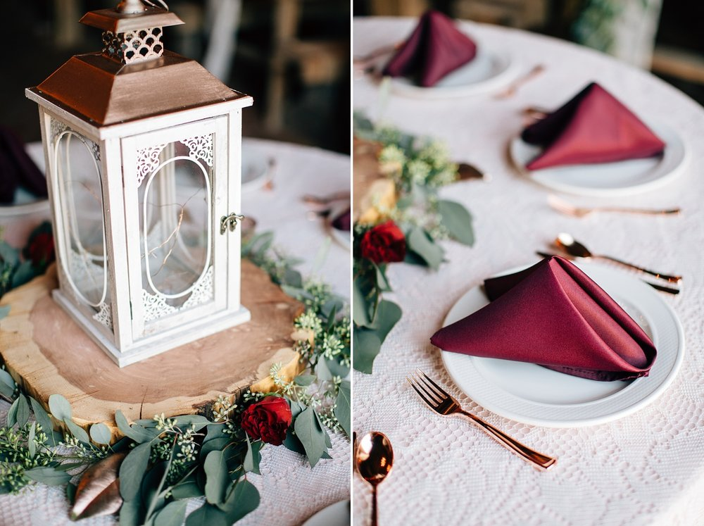 fall rustic wedding tablescape