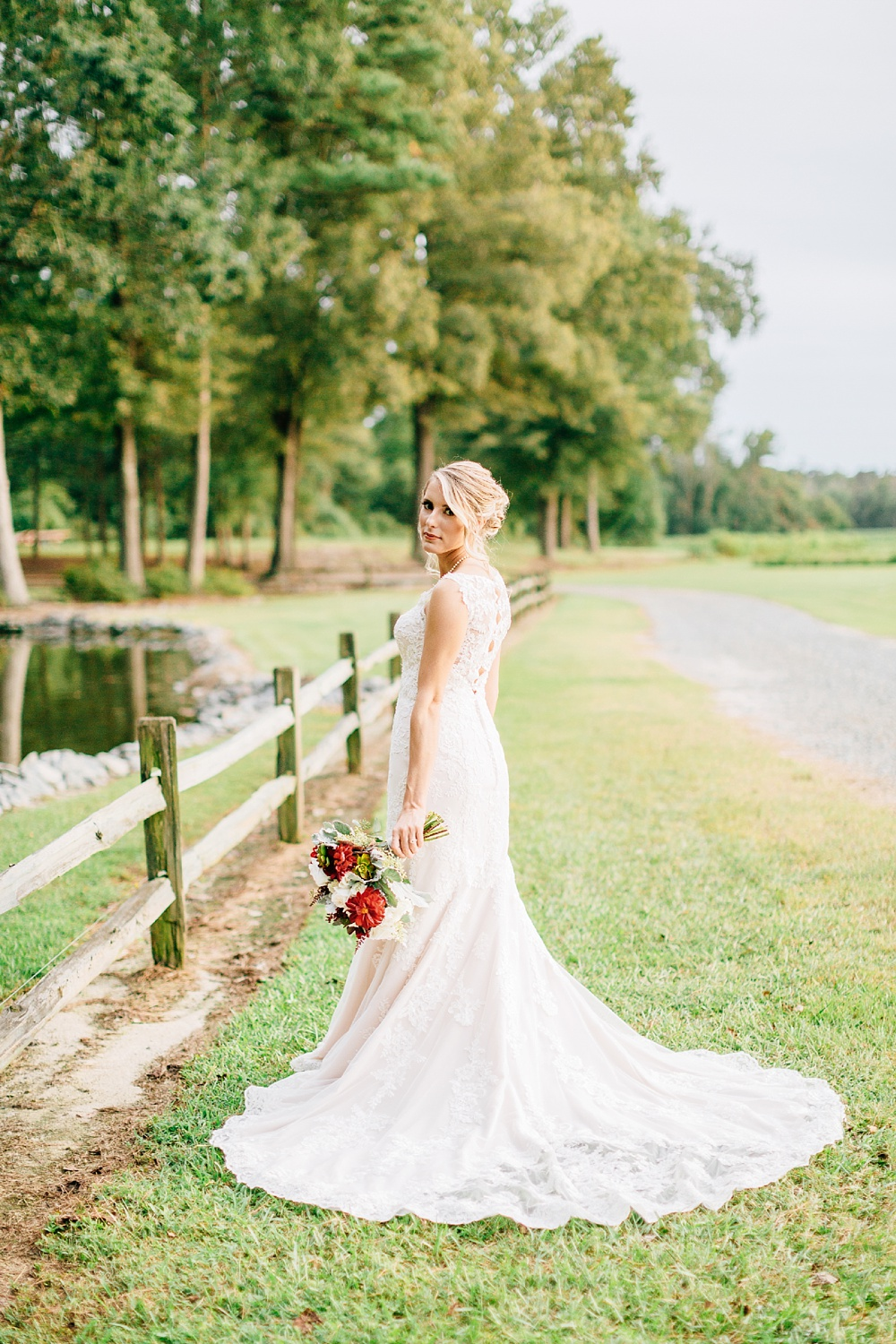 southern outdoor bridal portrait