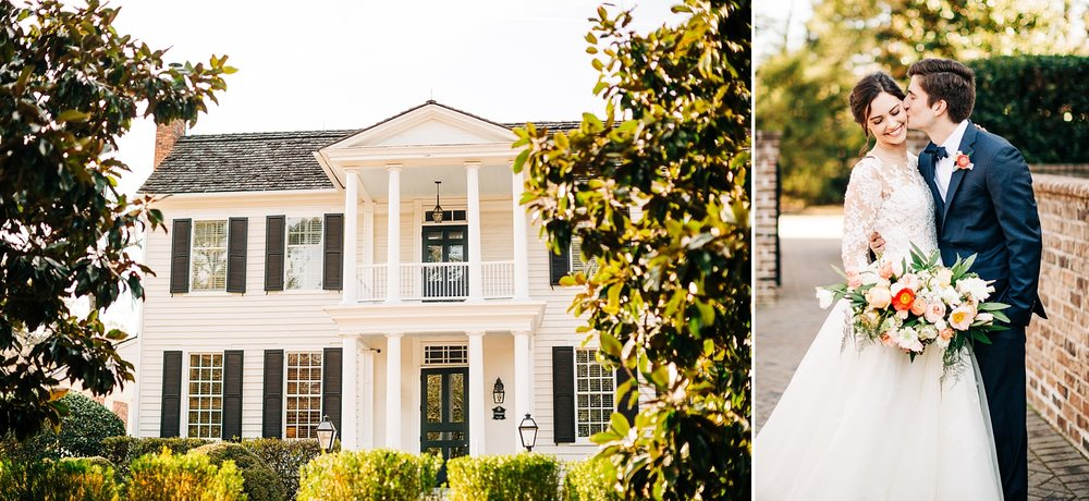 front view of the sutherland wedding venue in wake forest, nc