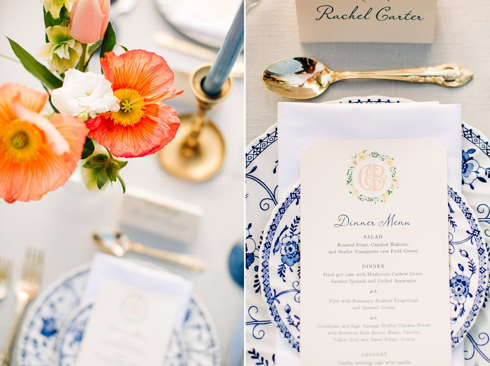 romantic styled wedding at the sutherland in wake forest, nc by rachael bowman photography