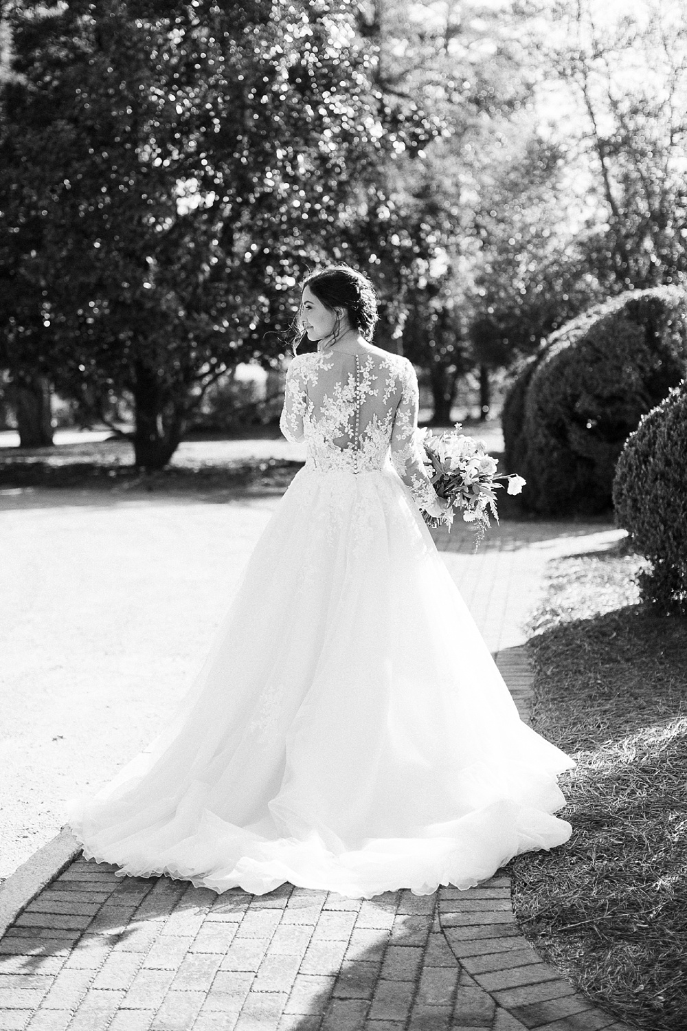 bridal portrait at the sutherland wake forest, nc by rachael bowman photography