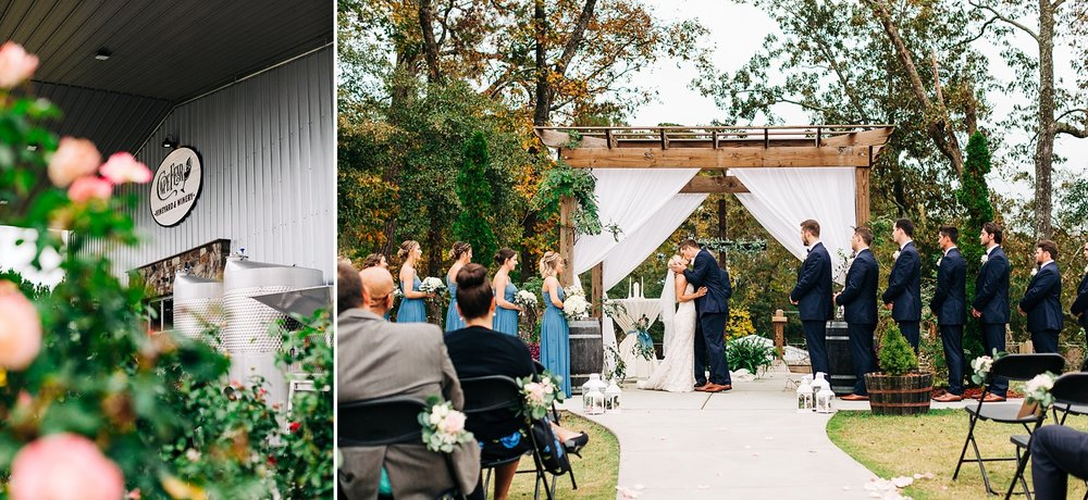 lakefront wedding at cape fear winery by rachael bowman photography