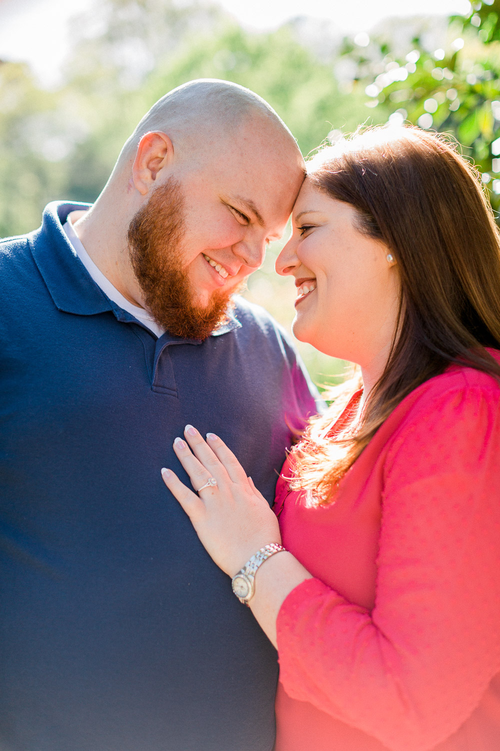 spring engagement session at wral azalea garden by rachael bowman photography