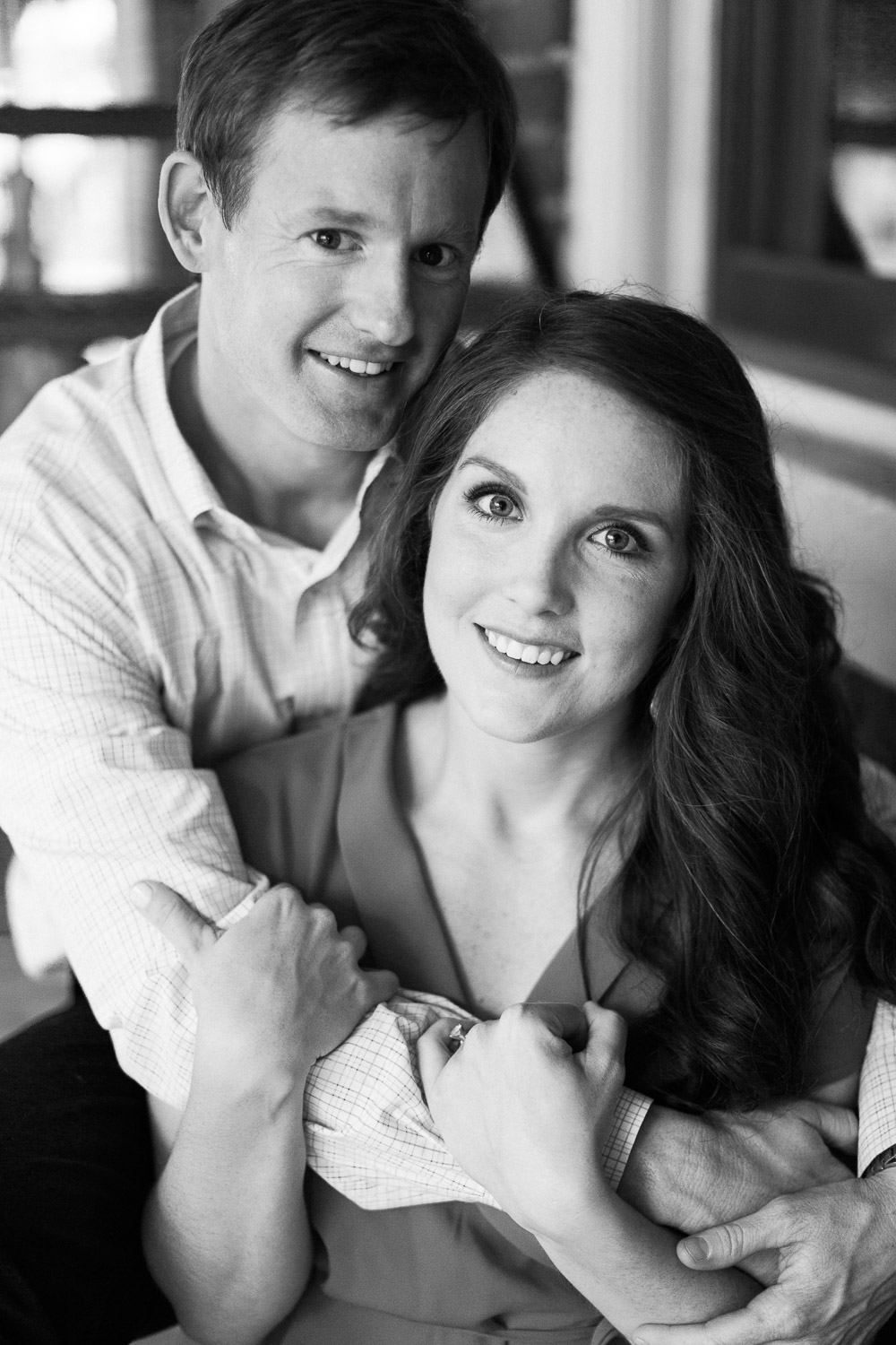 Downtown Raleigh spring engagement session