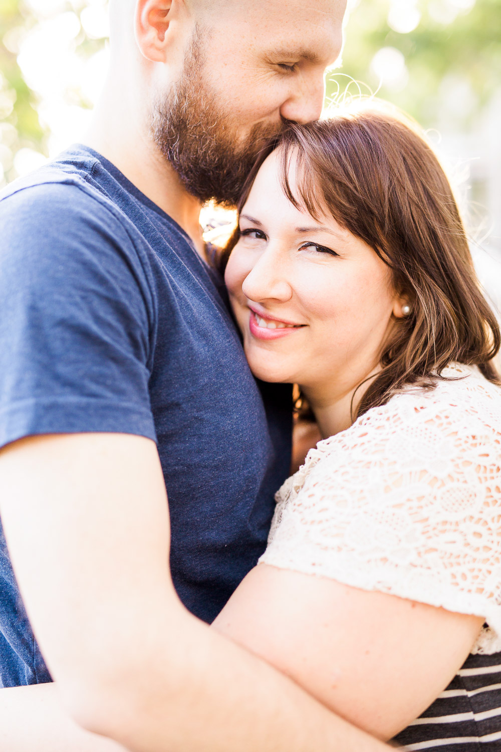 in home couples session at an oak island beach house