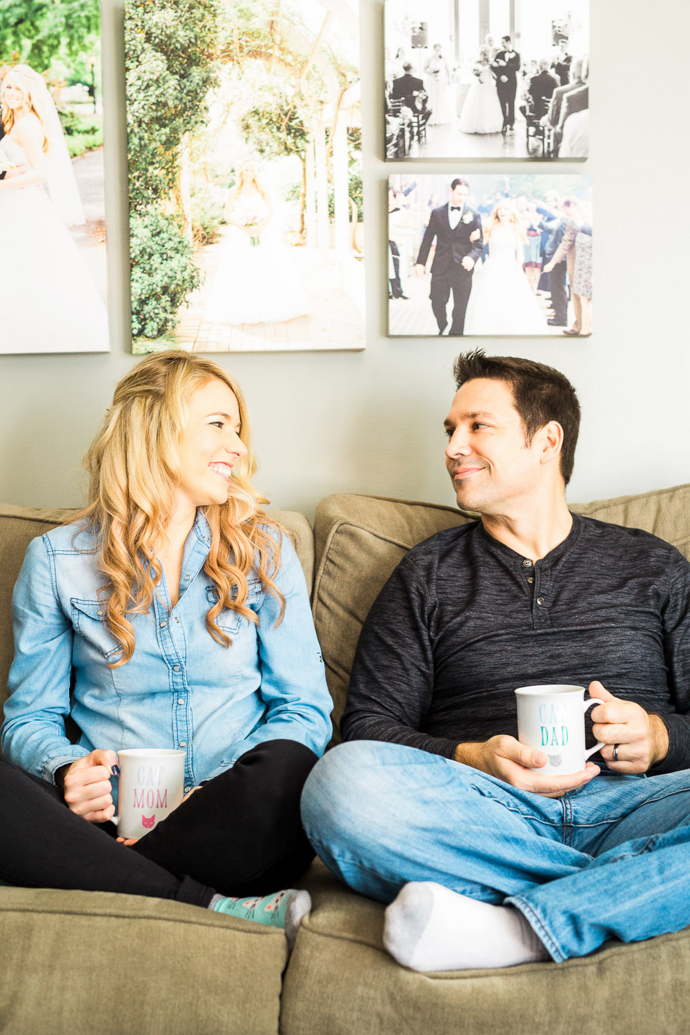 Downtown Raleigh / North Carolina  In Home Couples Session