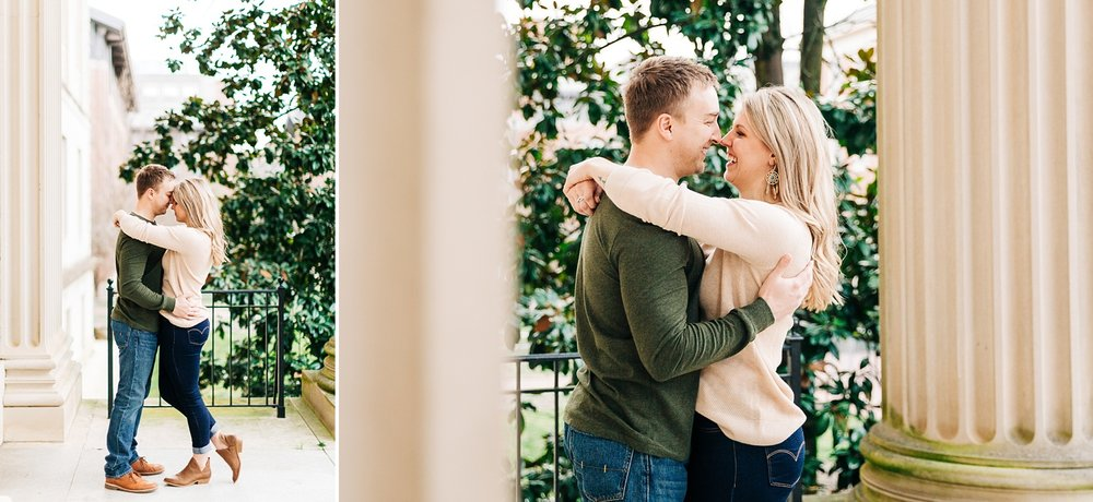 Wilson Library engagement session on UNC Chapel Hill's campus