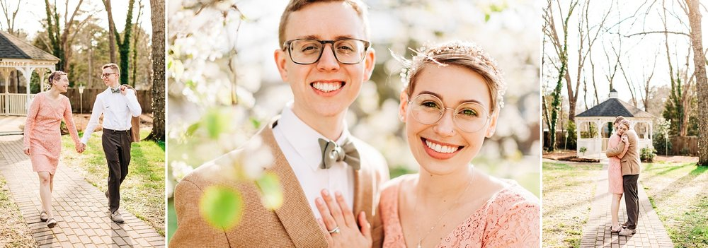 weekday elopement at cooper's landing inn and tavern in clarksville, va by rachael bowman photography