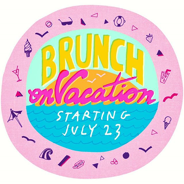 Join us this Saturday and Sunday from 11am to 4pm and bid Brunch a pleasant vacation. Starting July 23rd we'll be taking a break and serving dinner only. See you at the beach! 🌊⛱ #brunch #brunchonvacation #summer