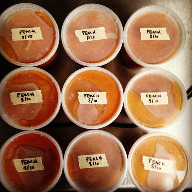 We are stocked up on peach purèe for those sake slushies! If there was ever a week for frozen drinks, this is it. #sake #slushies #cocktails #peach #pandacup
