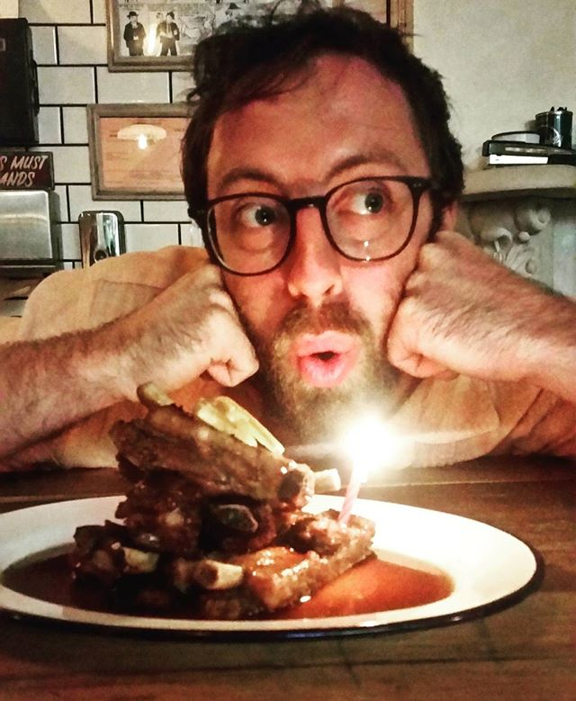 Alex gets his birthday ribs, and our last formal service at Martha comes to a close. Join us tomorrow from 3 to 8pm for our closing party! We will most definitely be drunk. ❤
