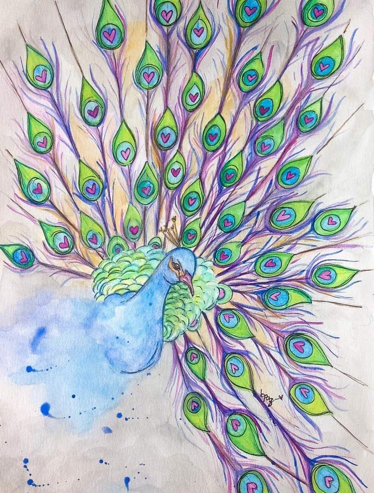 Inner Beauty. Watercolours - Markers.
