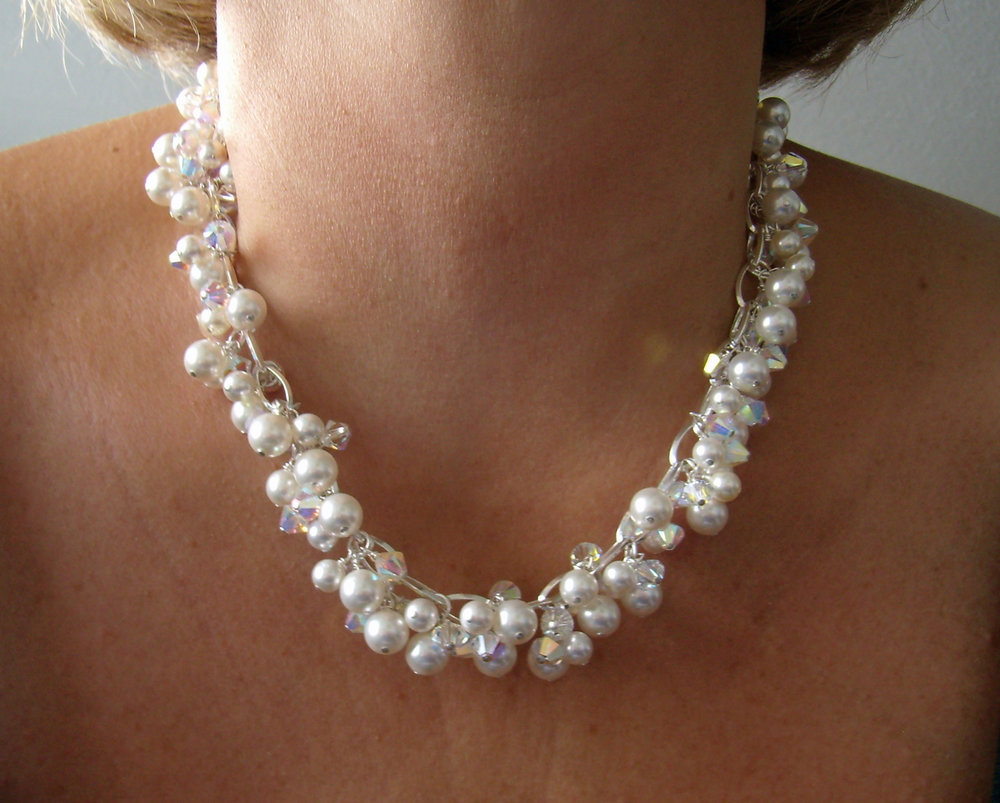 Swarovski   ® Pearl & Bead Choker Necklace - Gianna Seca