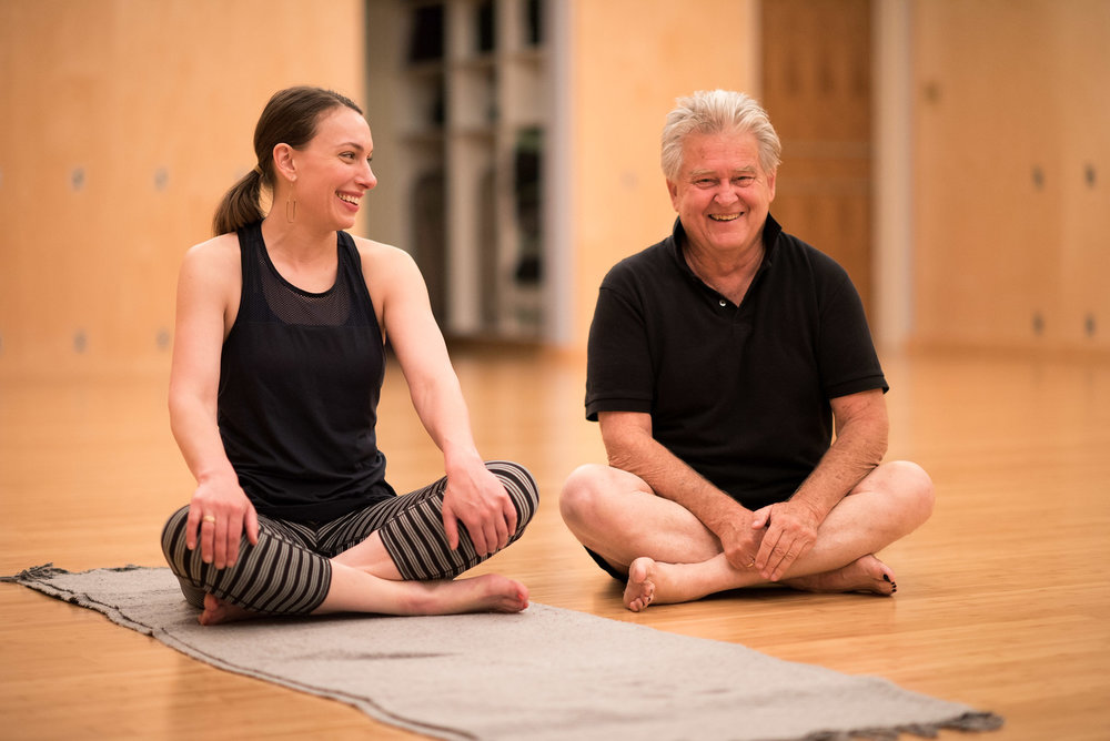 Leah Kaplan with Tony Briggs at P.O.S.T. Wellness by Design