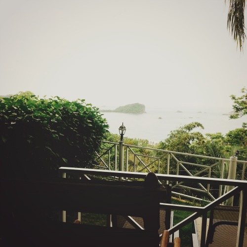 7:54 pm, Finally. Balcony view.