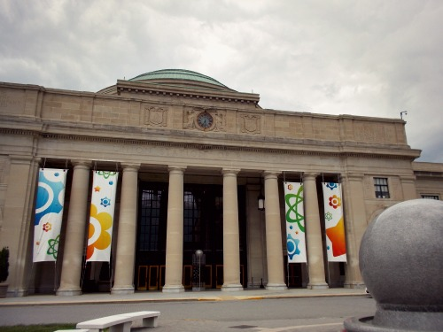 5:32 pm, We stopped by the Science Museum of Virginia, but of course it was closed :( Next time...