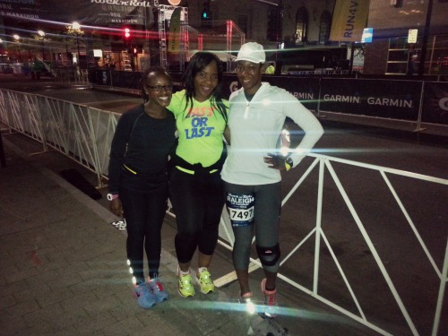 6:07 am, We're up. We're outchea. The runners on the side of the ride or die who came through to support. #team