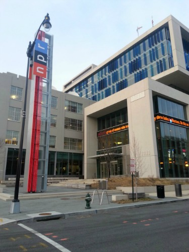 7:54 pm, Passed NPR HQ on the way out. NPR is my boo.