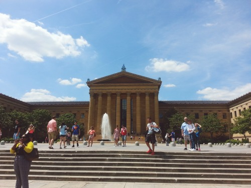 2:07 pm, After our mini-photoshoot, we headed over to the Philadelphia Museum of Art.  #buildingwatching is my thing, so I braved the steps (walking, not running) to snap a pic of this beauty.