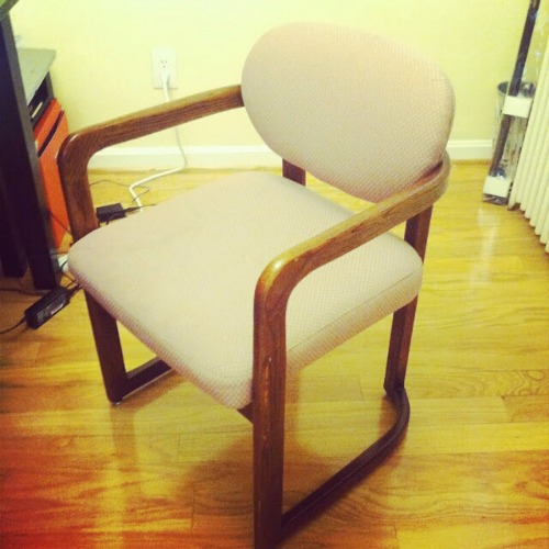 I don't even know where I got this chair.... but I was going through a chair phase and I wanted to toy with upholstery.