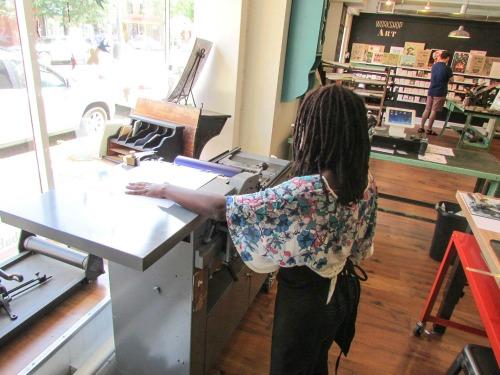Letterpress machine huff