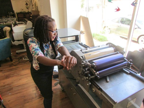 Letterpress machine puff