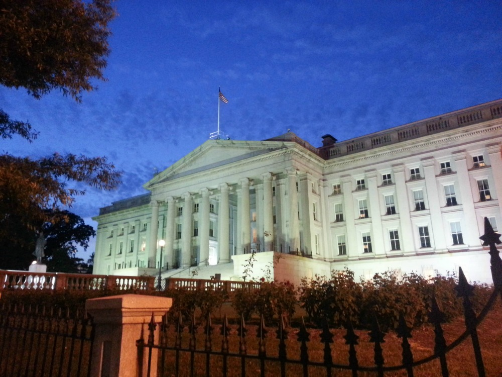 9:10 pm, US Dept of Treasury