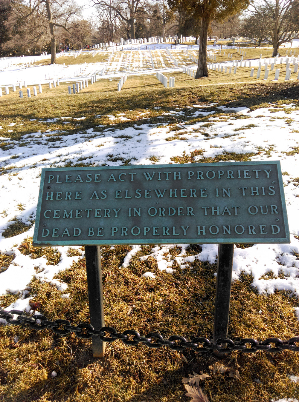 Arlington Cemetery Respect