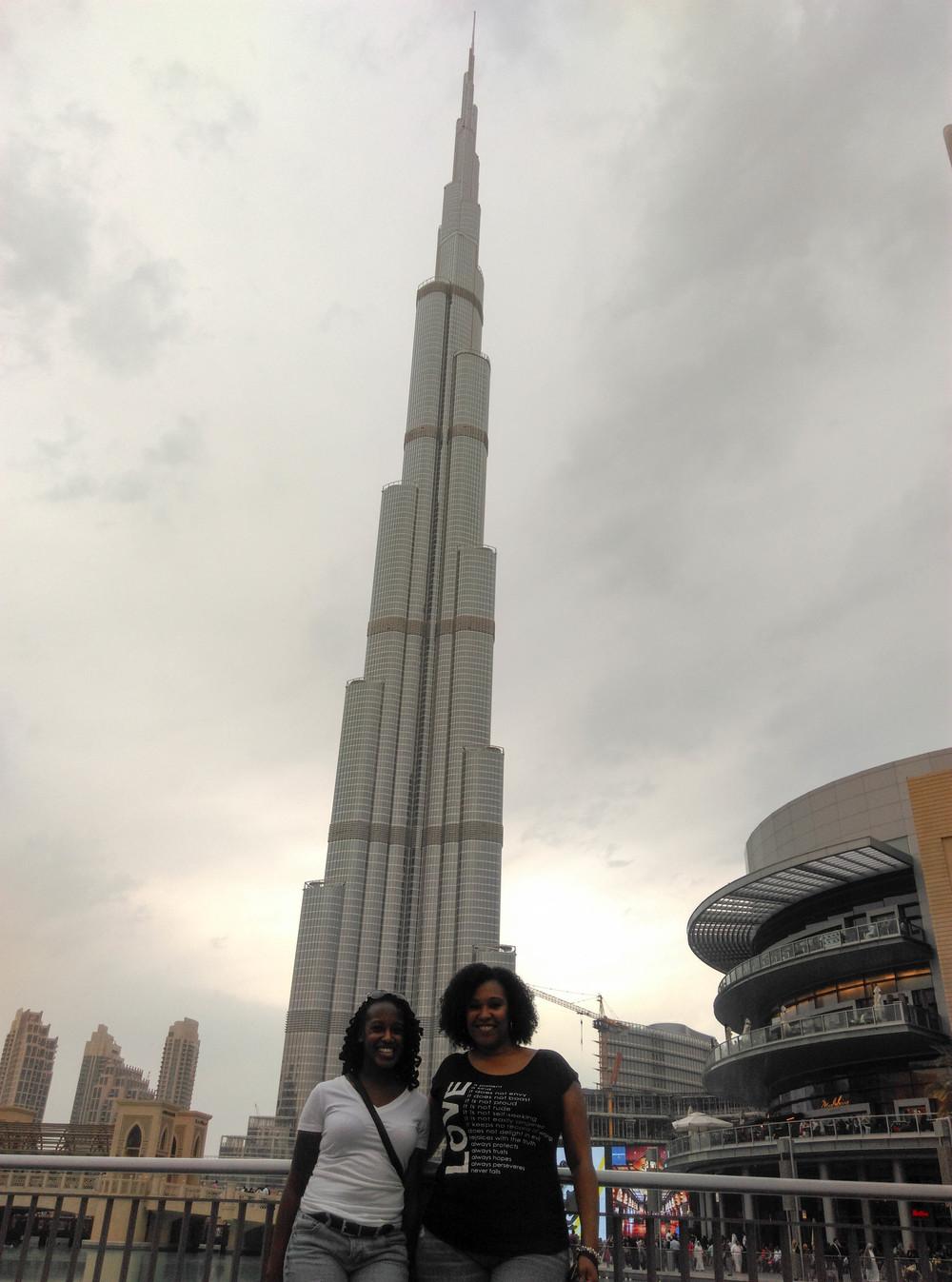 Usie Outside Burj Khalifa