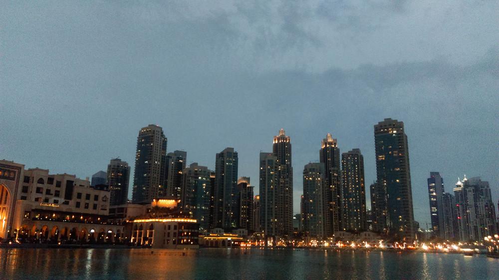 Downtown Dubai Sunset