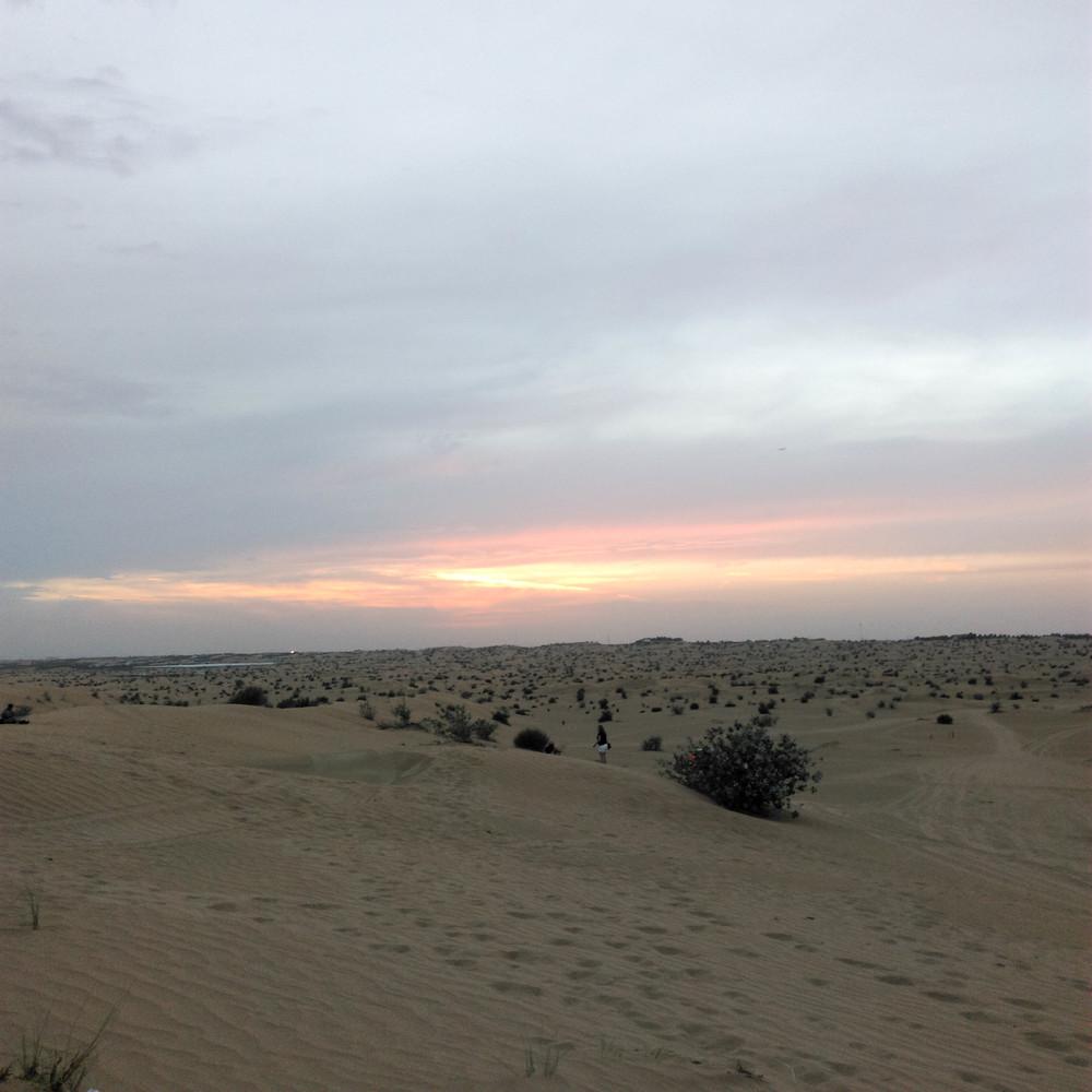 Sundown in the Desert