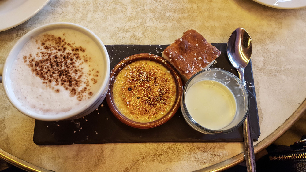 The first time I had crème brûlée.