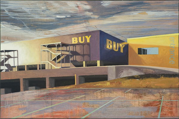 Sharon Feder, BUY, 2014, oil on panel.  Courtesy of BMoCA