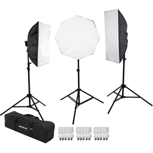 Westcott 3-Light D5 Daylight Softbox Kit