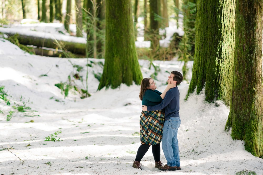 Mt. Hood engagement session with Portland Oregon wedding photographer.