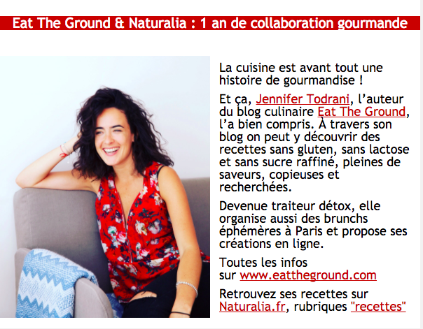 Newsletter Naturalia - 1 an de collaboration gourmande