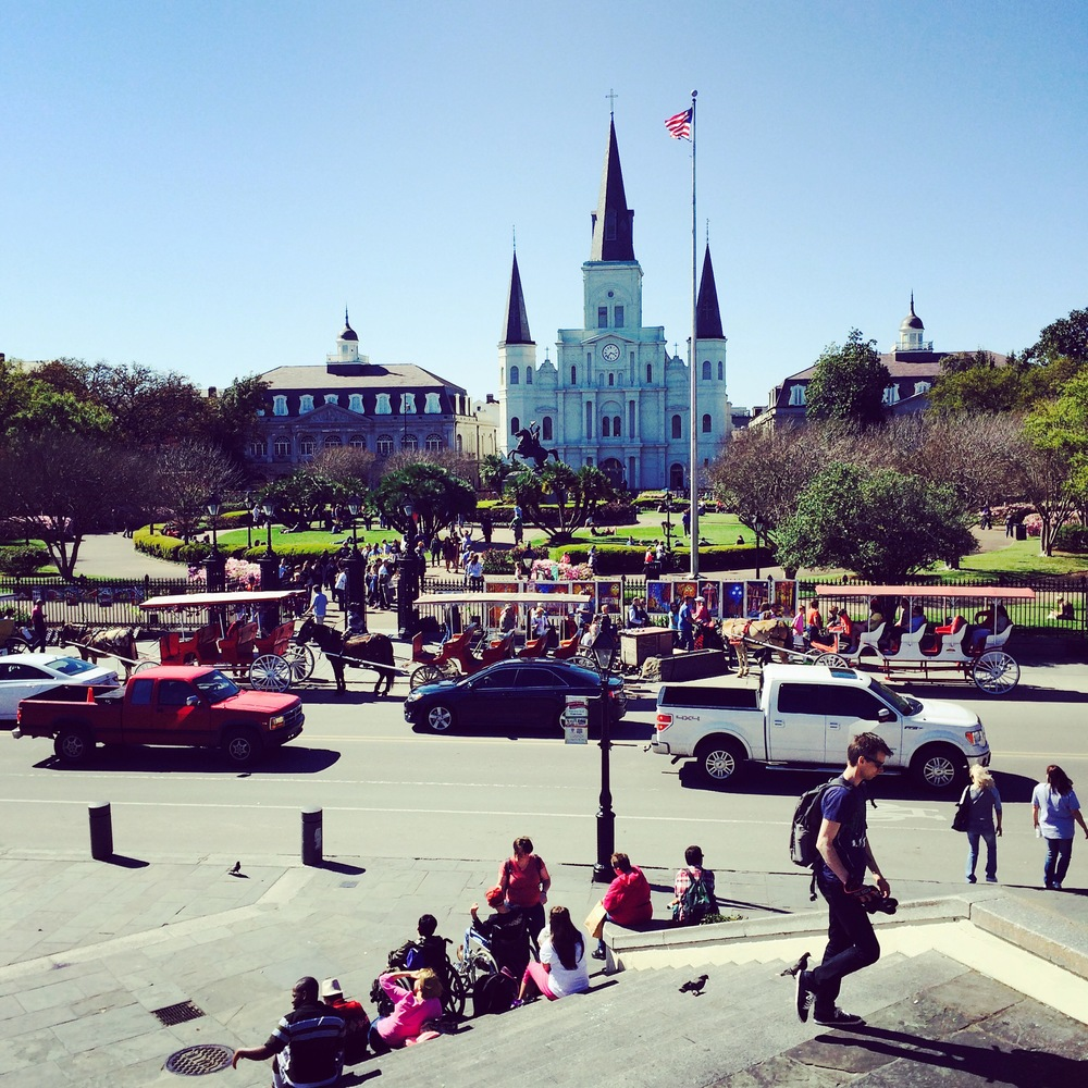 Jackson Square, Cafe Du Monde is just to the right of this picture.