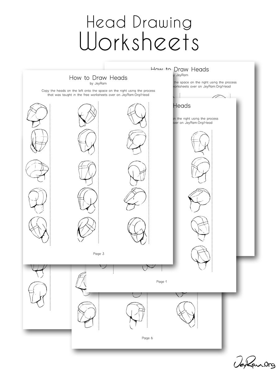 - Head Drawing Practice From Any Angle Practice Worksheets