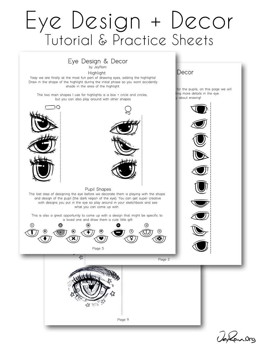 Female Anime Eye Drawing Design Printable Pdf Jeyram Art