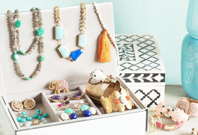 Fabric or enamel boxes...