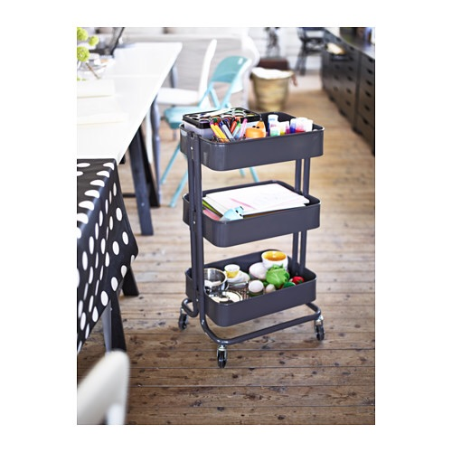 The craft cart! Time for crafts? Keep everything stored on this mobile cart and hide it away when your done. Makes craft time a little less stressful.